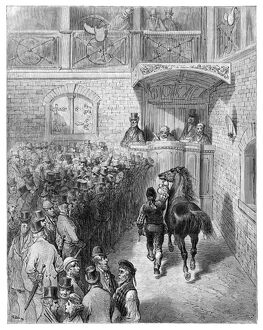DORE: LONDON, 1873. 'A Sale at Tattersall's