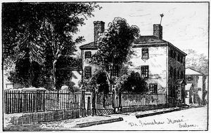 Dr. Grimshaw's house, Salem, Massachussetts. Etching, 1886, by George White.