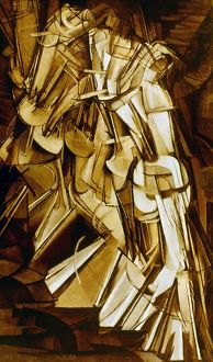 DUCHAMP: NUDE DESC., 1912. Marcel Duchamp: Nu descendant un escalier, no. 2. Oil on canvas
