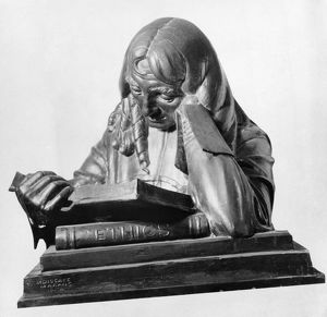 Dutch philosopher. Bronze bust by Moissaye Marans, early 20th century.