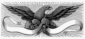EAGLE, 19th CENTURY. American typefounder's cut, 19th century.
