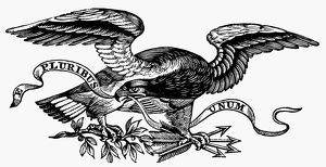 EAGLE, 19th CENTURY. /nAmerican typefounder's cut, 19th century.