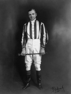 EARL H. SANDE (1898-1968). American jockey and horse trainer. Photographed by Bachrach
