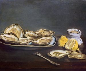 food drink/edouard manet oysters canvas 1862