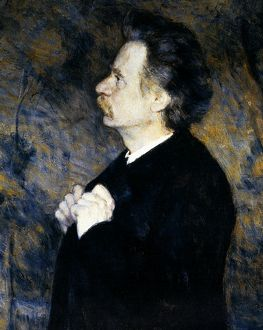 EDVARD GRIEG (1843-1907). Norweigan composer. Oil on canvas by Erik Werenskiold