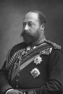 EDWARD VII (1841-1910). King of Great Britain, 1901-1910. As the Prince of Wales