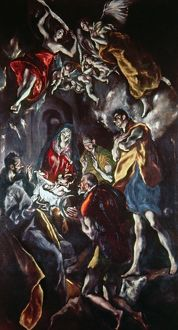 EL GRECO: ADORATION. Adoration of the Shepherds. Oil on canvas, c1614.