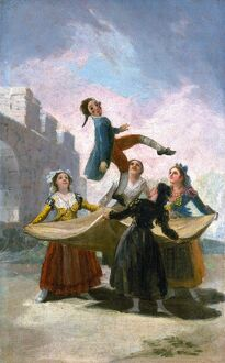 'El Pelele (The Puppet).' Oil on canvas by Francisco Goya, for the textile