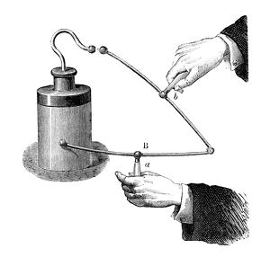 ELECTRICITY: LEYDEN JAR. The charge produced by a Leyden jar, transferred through