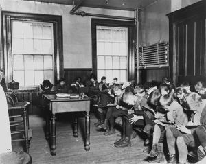ELEMENTARY SCHOOL, 1890s. A Lower East Side public school in New York City. Photograph
