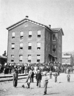 ELEMENTARY SCHOOL, c1895. Recess at Ward School no. 4, Dubuque, Iowa, c1895
