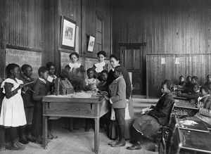 ELEMENTARY SCHOOL, c1900. Primary class of the Whittier Elementary School, near Hampton