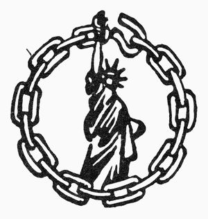 Emblem for the People's Rights Party, 1946.