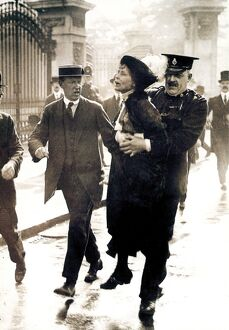 EMMELINE PANKHURST (1858-1928). English woman-suffrage advocate