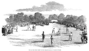 ENGLAND: CRICKET, 1850. Visit of the royal party to the cricket ground at Castle