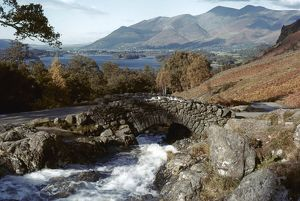 ENGLAND: CUMBRIA. Northern Lakes: Ashness Bridge, Derwentwater.