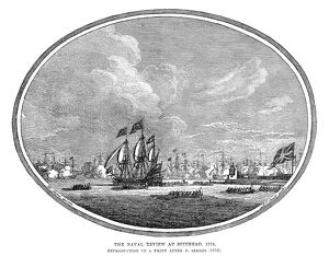 ENGLAND: NAVAL REVIEW, 1773. 'The Naval Review at Spithead, 1773