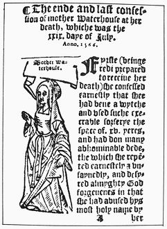ENGLAND: WITCH TRIAL, 1566. The first woman to be hanged as a witch in England