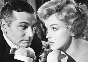 English actor. Laurence Olivier as the Prince and Marilyn Monroe as the Showgirl