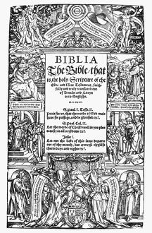 ENGLISH BIBLE, 1535. First printed English Bible, Miles Coverdale's translation