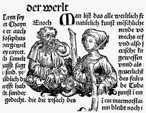 ENOCH. Enoch, the father of Methusaleh. Woodcut from the 'Nuremberg Chronicle