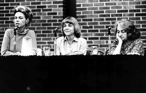 ERA DEBATE, 1978. A debate on Women's Rights at the University of Chicago. From left