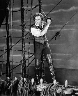 ERROL FLYNN (1909-1959). Australian actor. Flynn in the title role of 'The Sea Hawk