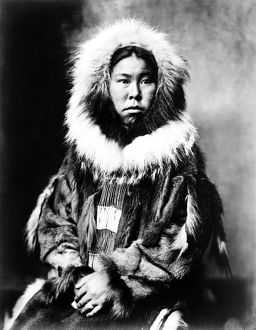 anthropology/eskimo woman c1903 inuit woman seated wearing