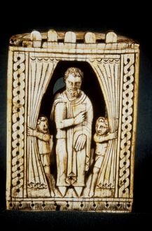 European ivory chess piece, 11th-12th century.