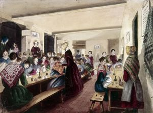 EVENING SCHOOL, c1840. 'Girls' Evening School