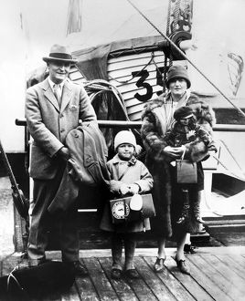 F. SCOTT FITZGERALD (1896-1940). Francis Scott Key Fitzgerald. American writer. Photographed with his wife, Zelda, and his daughter, Frances Scott, 1926.