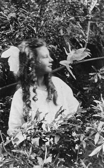 FAIRY HOAX, 1920. Frances Griffiths and a leaping fairy, in a photograph made in
