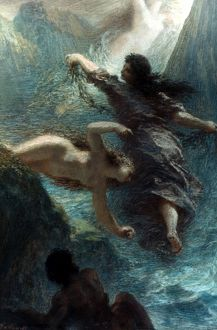 FANTIN-LATOUR: RHEINGOLD. Henri Fantin-Latour (1836-1904): The first scene from 'Das