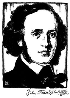 FELIX MENDELSSOHN (1809-1847). German composer, pianist and conductor