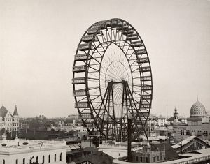 FERRIS WHEEL, 1893. The original Ferris wheel designed and constructed by G