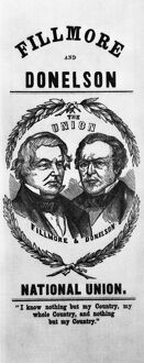 presidents/fillmore campaign 1856 campaign poster presidential