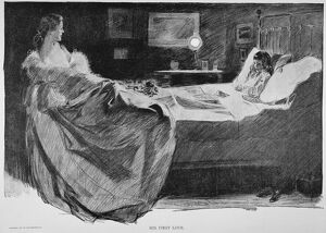 'His First Love.' Drawing by Charles Dana Gibson.