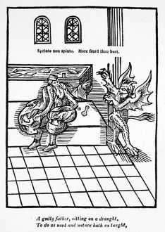 FIRST WATER-CLOSET, 1596. The first water-closet, invented by Sir John Harington