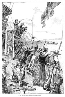 sports/fishing 1889 a day fishing banks engraving