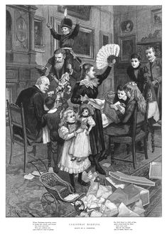 FORESTIER: CHRISTMAS, 1896. 'Christmas Morning.' Engraving after Amedee Forestier