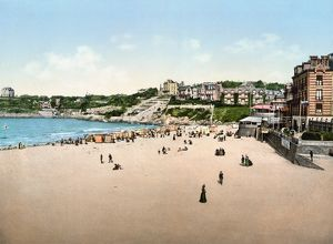 FRANCE: CASINO, c1895. The beach and casino resort in Dinard, France. Photochrome, c1895.