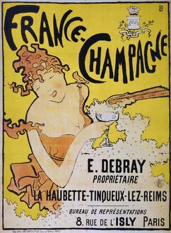 vintage ads/france champagne french lithograph ad poster