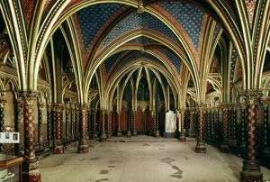 FRANCE: STE. CHAPELLE. Lower Chapel, 13th century. Paris, France.
