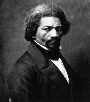 FREDERICK DOUGLASS (c1817-1895). American abolitionist and writer. Photograph, c1866.