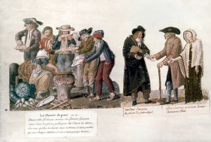 FRENCH REVOLUTION, 1795-96. Scarcity and privation in Paris during the 4th year of