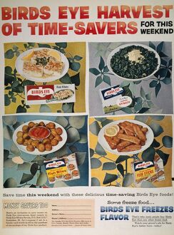 FROZEN FOOD AD, 1957. 'Some Freeze Food
