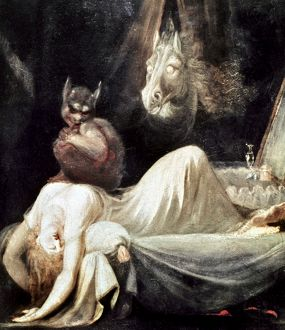 FUSELI: NIGHTMARE, 1781. The Nightmare. Oil on canvas by Henry Fuseli, 1781.