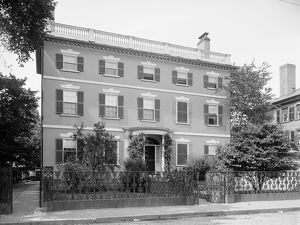 GARDNER-PINGREE HOUSE. The Federal style Gardner-Pingree House at 128 Essex Street