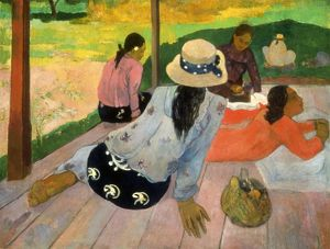 GAUGUIN: SIESTA, 1891. Paul Gauguin: The Siesta. Oil on canvas, c1891.