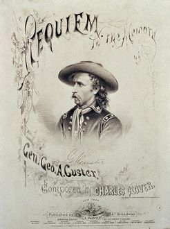 GEORGE A.CUSTER (1839-1876). American army officer. Song sheet cover, 1876.